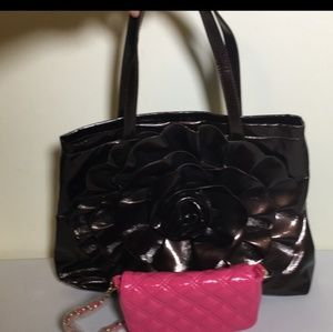 Big buddah handbag plus clutch